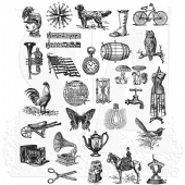 Stampers Anonymous Tim Holtz - Cling Mount Stamp Set - Tiny Things 2 - CMS305